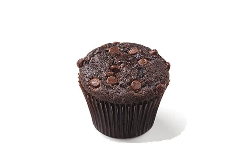 Muffin de chocolate com gotas